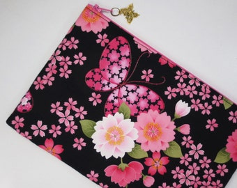 Sakura & Butterfly iPad mini Case/ Zipper Pouch/ Clutch Bag