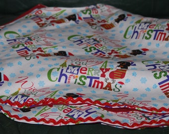 Dachshund Tree Skirt Only 1 Left made and ready to ship