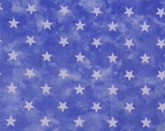 2502E - Retro Star Fabric in Faded Persian Blue, Sevenberry Cotton Fabric, Japanese Cotton