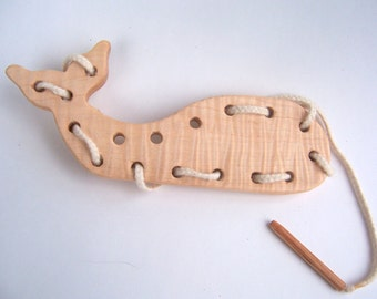 Whale Lacing Toy