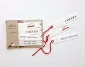 Christmas tags set of 20 with red twine