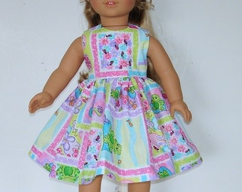 Summer dress designed for American Girl 18 inch doll   No. 574