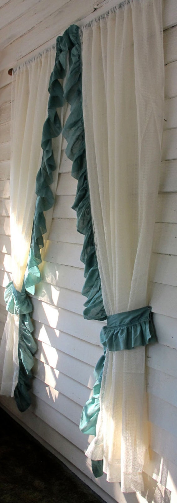 Ruffled Tieback Curtains Priscilla Drapes Lined Window