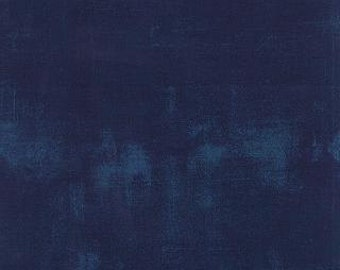 Navy #225 Grunge by Basic Grey Moda half yard