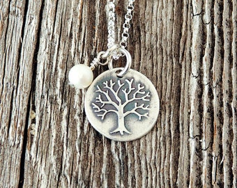 Tree Charm Necklace, Family Tree Necklaces, Charm Necklace, Custom Necklaces, Customized Jewelry, Tree of Life Necklace, LDS Gifts