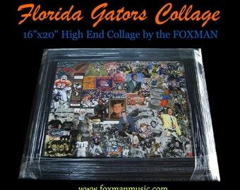 Gators Collage (original artwork by the Foxman)