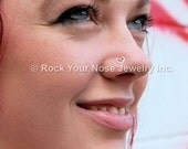 Organic Hammered Heart Argentium Sterling Nose Stud  - My Hammered Heart - CUSTOMIZE