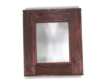 Rustic Picture Frame 8 x 10  for Photos or Art Prints - Rustic Home Decor - Reclaimed Wood