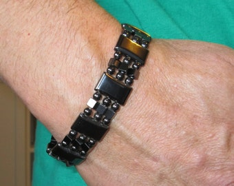 Magnetic Therapy Bracelet - Mens or Womens Watch Band Style - Chunky