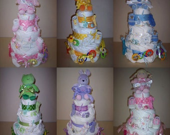 3 Tier Diaper Cake Your Choice in Color