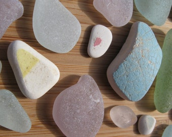 Beautiful Genuine Nova Scotia Surf Tumbled Frosted Pastel Gems for Jewelry