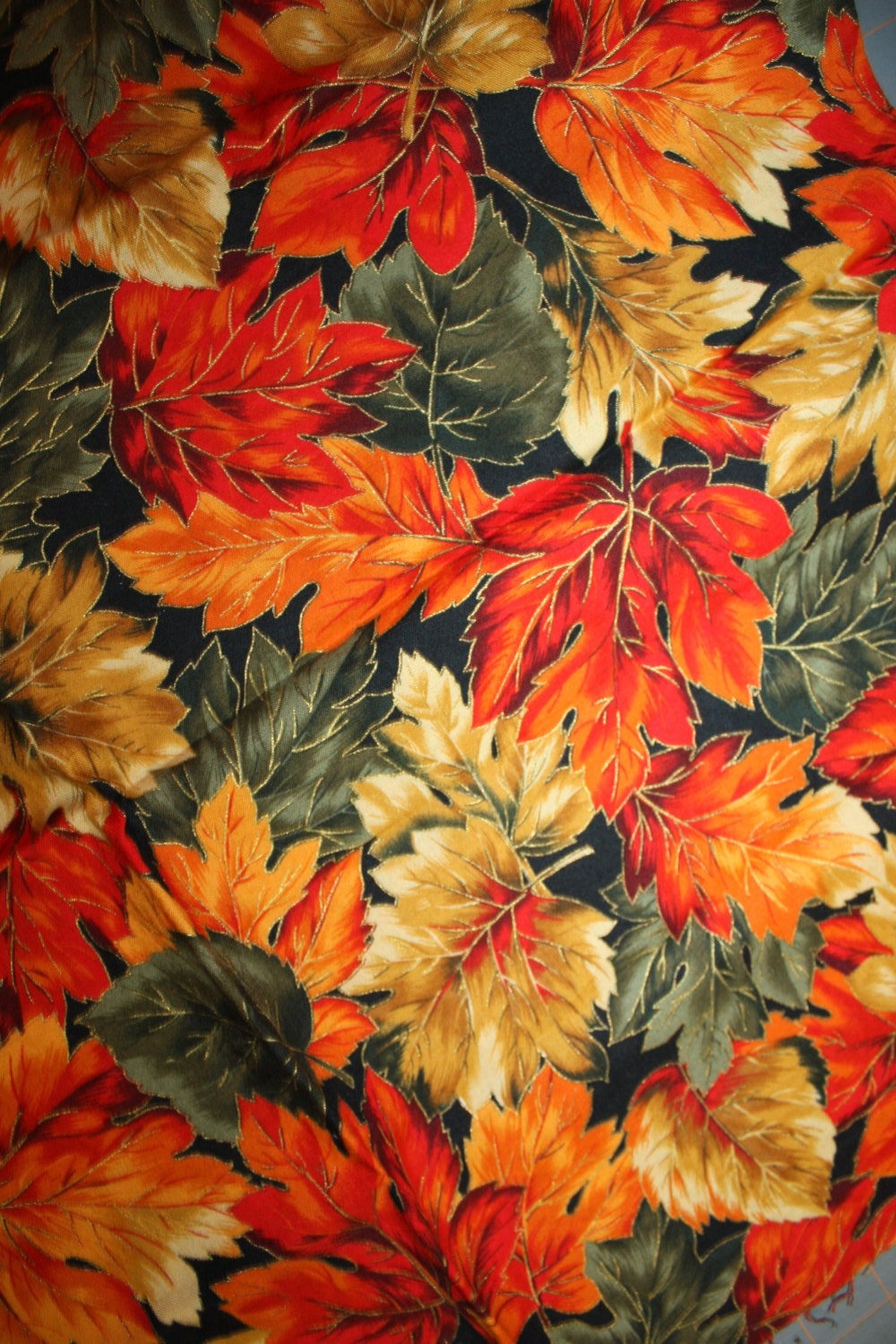 Autumn Serenade By Hoffman Fabrics Fall Leaves Gold Metallic