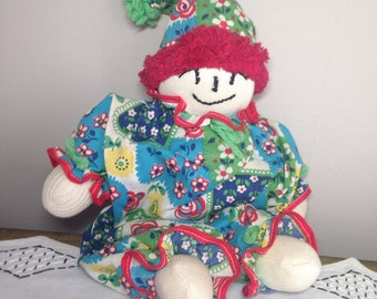 Vintage Clown Doll 70s Sock, Fabric, Cloth