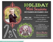 Christmas Mini Session Template for Photographers - Holiday Chalkboard - INSTANT DOWNLOAD