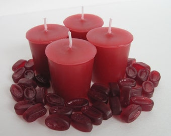 CHERRY COUGH DROPS (4 votives or 4-oz soy jar candle)