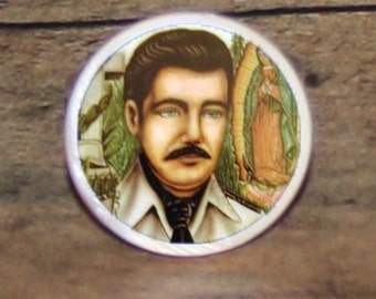 Jesús Malverde Tie tack or Cuff links or Ring or Pendant or Brooch
