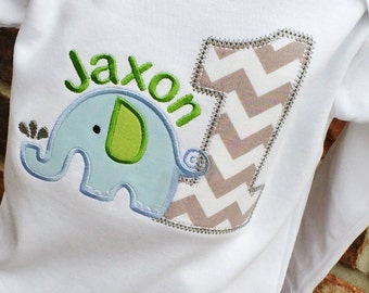 Boys Appliqued Elephant with  Age