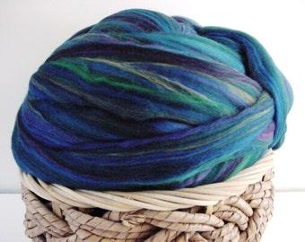 Merino Wool Roving, English Garden 4 ounces, Multi  Colour,