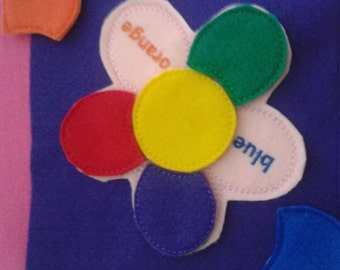 Build Your Own Felt Quiet Book - Page by Page Felt Flower Puzzle - Learn Your Colors -  Durable