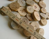 25 Wooden  Buttons Handmade 1 inch Tree Branch Slice Assortment
