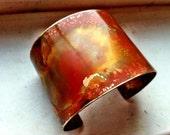 """The Original Patina Cuff - Organic Earth Tones - 2"""" Brass Cuff"""