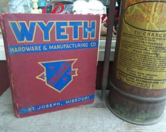 SALE - Large Vintage Wyeth Manufacturing Hardcover Catalog from Rustysecrets