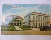 Antique Postcard, Akron, Summit County, Ohio, Courthouse & Jail, Unused