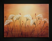 Original Oil Painting. Modern Fine art Abstract flowers - SUMMER DREAMS. Free Shipping inside US.