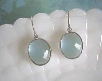 Dangle & Drop, Clearance Sale, Jewelry Sale, Aquamarine Earrings, Silver Earrings, Best Friend, Birthday, Bridesmaid Earrings, Wife Gift