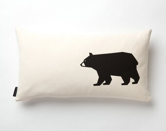 Bear Pillow in Off-white with fill