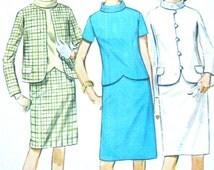 Vintage 60s Simplicity 7221 Misses' Skirt Jacket Suit Pattern  Bust 38