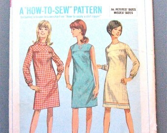 60s Simplicity 7177 Dress Pattern   Bust 33 inches
