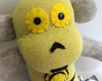 Cosplaying C3PO Sock Monkey
