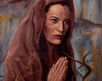 The Prayer, Original Oil Painting
