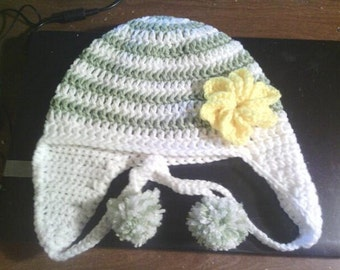 Hat with Yellow Flower