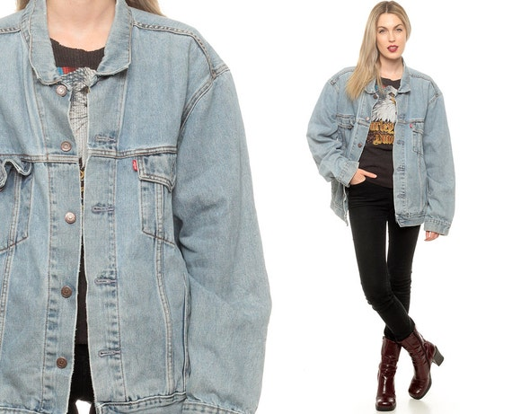 Levis Jean Jacket 80s Denim Jacket Faded Distressed Levi Coat