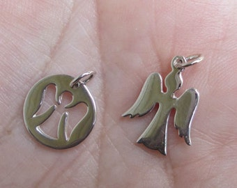Sterling Silver Angel Charm(one or two charms)You choose quantity and style