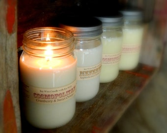 30+ Scents - Mason Jar Soy Candle  YOU CHOOSE scents Great Holiday Gifts