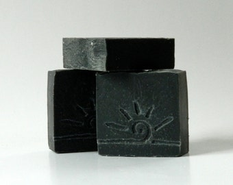 Activated Charcoal Soap / Black Soap / Facial Face Soap Bar / All Natural Soap