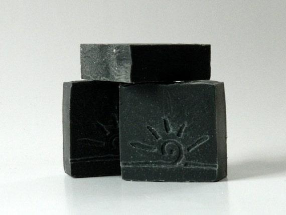Activated Charcoal Soap / Black Soap / Facial Face Soap Bar / All Natural Soap