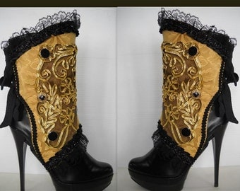 Elegant Spats in Gold - by J Souza