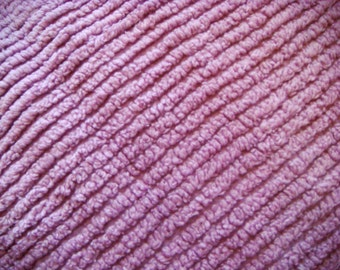 Lavender Plush Ribbed Vintage Chenille Bedspread Fabric 18 x 24 Inches