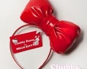 Hello Kitty Bow - Red  (Officially licensed)