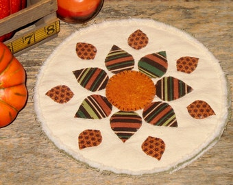 Primitive Rustic Candle Mat - Fall Decor - Rustic Centerpiece - Country Farmhouse Decor