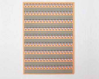 Colorful Tribal Print Greeting Card