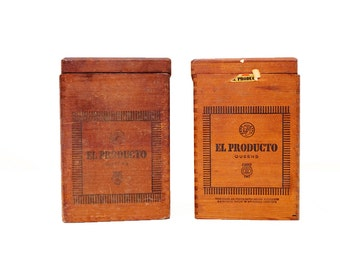 Vintage El Producto Queen Cigar Box / 2 Available