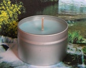WHIRLED PEACE Candle Tin - Patchouli Candles - Handmade Soy Candles