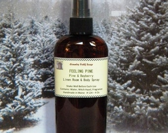 FEELING PINE Pine & Bayberry Room Fragrance Spray - Natural Pine Air Freshener