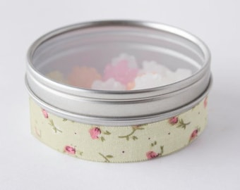 Fabric Deco Pink Rosebud Vintage Floral - Scrapbook Embellish Decorate - Colorful and Fun - Single Roll No. F136