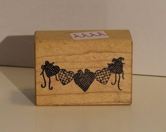 PSX String of Hearts rubber stamp
